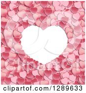 Clipart Of A White Frame With Pink Valentine Hearts Royalty Free Vector Illustration by vectorace