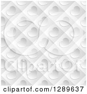 Clipart Of A Background Of Diagonal Silver Valentine Hearts On Gray Tiles Royalty Free Vector Illustration by vectorace