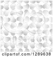 Clipart Of A Background Of Silver Valentine Hearts On White Royalty Free Vector Illustration