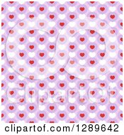 Seamless Valentines Day Pattern Background Of Hearts Over Purple