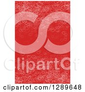 Clipart Of A Background Of Sketched White Valentine Hearts On Red Royalty Free Vector Illustration