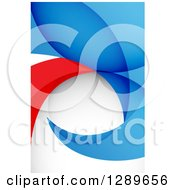 Clipart Of A Background Of Abstract Blue White And Red Royalty Free Vector Illustration