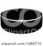 Clipart Of A Black And White Hockey Puck 8 Royalty Free Vector Illustration
