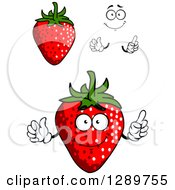 Clipart Of Strawberries Hands And A Face Royalty Free Vector Illustration