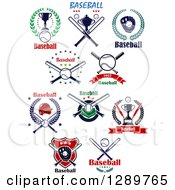 Clipart Of Baseball Sports Designs With Text 2 Royalty Free Vector Illustration