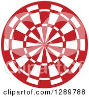 Clipart Of A Red And White Bullseye Target For Archery Or Throwing Darts Royalty Free Vector Illustration by Vector Tradition SM