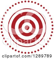 Clipart Of A Red And White Bullseye Target For Archery Or Throwing Darts In A Circle Of Dots Royalty Free Vector Illustration by Vector Tradition SM