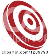 Clipart Of A Tilted Red And White Bullseye Target For Archery Or Throwing Darts Royalty Free Vector Illustration by Vector Tradition SM