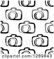 Clipart Of A Seamless Black And White Camera Background Pattern 2 Royalty Free Vector Illustration by Vector Tradition SM