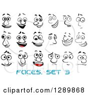 Clipart Of Faces With Different Expressions And Text 2 Royalty Free Vector Illustration
