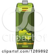 Clipart Of A Green Apple Juice Carton 2 Royalty Free Vector Illustration