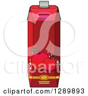 Clipart Of A Red Apple Juice Carton 2 Royalty Free Vector Illustration