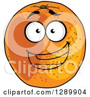Clipart Of A Happy Cartoon Orange Character Royalty Free Vector Illustration by Vector Tradition SM