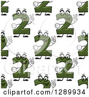 Seamless Background Pattern Of Happy Number Two Characters