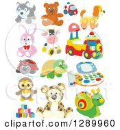 Clipart Of Childrens Toys Royalty Free Vector Illustration