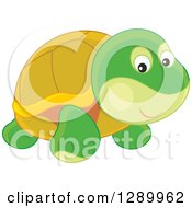 Clipart Of A Cute Tortoise Toy Royalty Free Vector Illustration