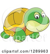 Clipart Of A Cute Turtle Toy Royalty Free Vector Illustration