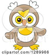 Clipart Of A Cute Owl Toy Royalty Free Vector Illustration by Alex Bannykh