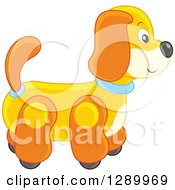 Clipart Of A Rolling Toy Dog Royalty Free Vector Illustration