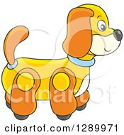 Clipart Of A Rolling Dog Toy Royalty Free Vector Illustration