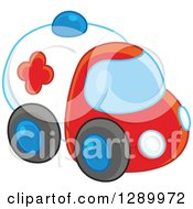 Clipart Of A Toy Car Ambulance Royalty Free Vector Illustration by Alex Bannykh