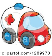 Clipart Of A Toy Ambulance Royalty Free Vector Illustration by Alex Bannykh