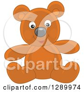 Clipart Of A Happy Stuffed Teddy Bear Toy Royalty Free Vector Illustration by Alex Bannykh