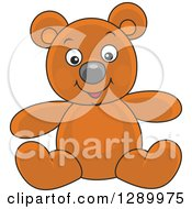 Clipart Of A Stuffed Teddy Bear Toy Royalty Free Vector Illustration by Alex Bannykh