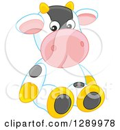 Clipart Of A Cute Stuffed Animal Cow Toy Royalty Free Vector Illustration by Alex Bannykh