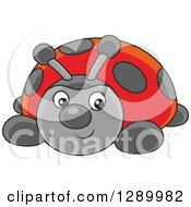 Clipart Of A Cute Ladybug Toy Royalty Free Vector Illustration by Alex Bannykh
