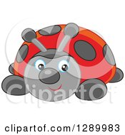 Clipart Of A Ladybug Toy Royalty Free Vector Illustration