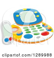 Clipart Of A Childs Fax Machine Toy Royalty Free Vector Illustration