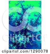Clipart Of A Blue And Green Fractal Background Royalty Free Illustration