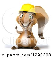Clipart Of A 3d Happy Contractor Squirrel Wearing A Hardhat And Holding Up A Finger Royalty Free Illustration by Julos