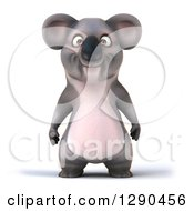 Clipart Of A 3d Happy Koala Royalty Free Illustration
