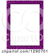 Pink Cheetah Or Leopard Print Border Around White Text Space