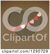 Corrugated Cardboard Cutout Valentine With A Heart Banner Bunting