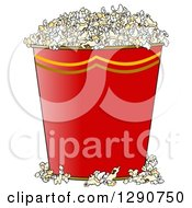 Gradient Red Bucket Of Popcorn