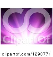 Clipart Of A Background Of Bright Purple Lights Royalty Free Vector Illustration