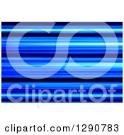 Clipart Of A Background Of Blue And Black Blur Or Stripes Royalty Free Illustration