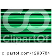 Clipart Of A Background Of Green And Black Blur Or Stripes Royalty Free Illustration