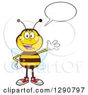 Happy Talking Honey Bee Waving