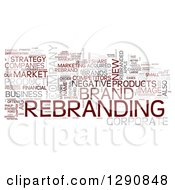 Red Gray And Pink Corporate Rebranding Word Tag Collage On White