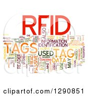 Clipart Of A Colorful RFID Word Tag Collage On White Royalty Free Illustration