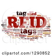 Clipart Of A Red Orange And Black RFID Word Tag Collage On White Royalty Free Illustration