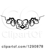 Clipart Of A Black And White Tribal Heart Border Design Royalty Free Vector Illustration by Vector Tradition SM