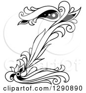 Clipart Of A Black And White Vintage Floral Capital Letter Z Royalty Free Vector Illustration