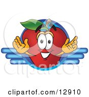 Clipart Illustration Of A Red Apple Character Mascot Logo