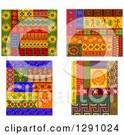 Clipart Of Tribal African Design Elements 2 Royalty Free Vector Illustration