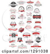 Clipart Of Quality Product Guarantee Labels 5 Royalty Free Vector Illustration
